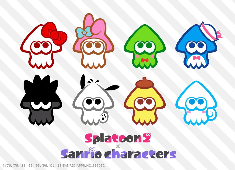 Splatoon 2 X Sanrio Characters Japanese Blog Post Pc Mobile Wallpapers