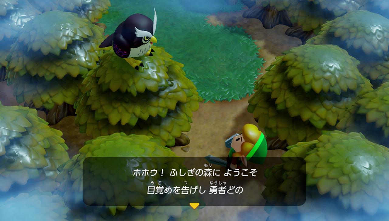 ダンジョンにはゼルダでは珍しい横スクロールの部屋があったり、ゼルダシリーズ以外のキャラクターも登場したりと、『夢をみる島』ならではの特徴も健在です。